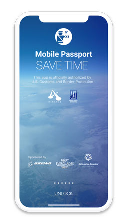 mobile passport home screen